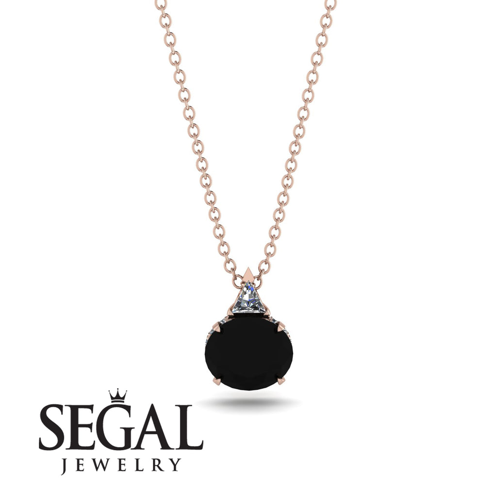 Hidden Halo Black Diamond Necklace - Rosalie No. 32