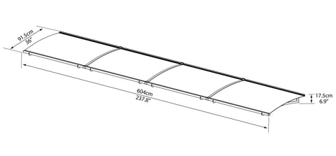 Palram Aquila 6000 Clear Door Awning  sc 1 st  Awnings Canada & Palram AQUILA 6000 Clear Door Awning - Awnings-Canada