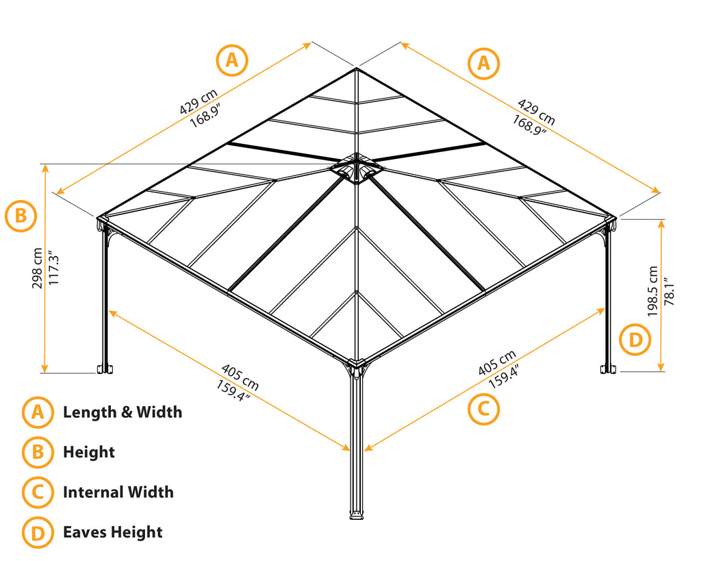 Palermo_Gazebo_4300_PALRAM_Drawings_Specifications