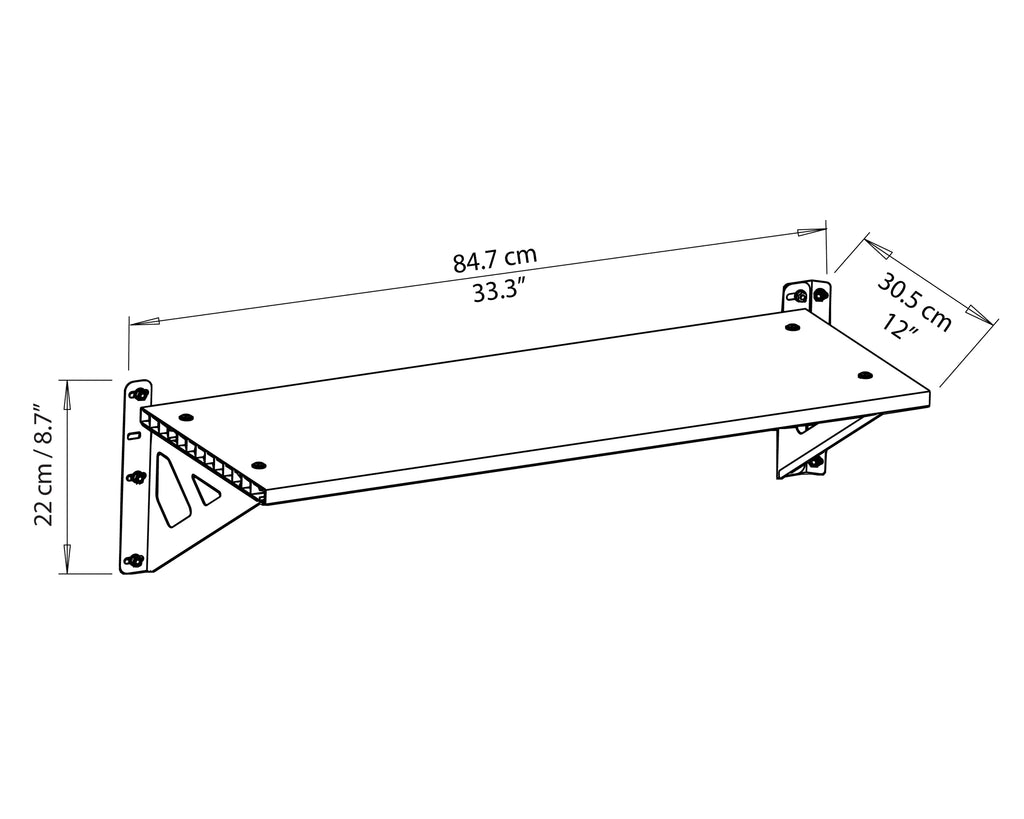 Palram Yukon™ and Skylight™ Shelf Kit iso view
