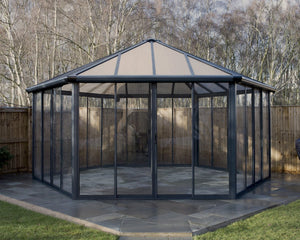 Palram Garda™ 17 ft. x 19 ft. Enclosed Garden Gazebo / Hot Tub Enclosure - Awnings-Canada