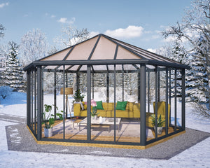 Palram Garda™ 17 ft. x 19 ft. Enclosed Garden Gazebo / Hot Tub Enclosure - END OF THE SEASON BLOW OUT - Awnings-Canada