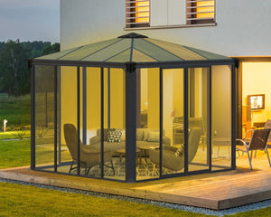 Palram Ledro™ 3000 10 ft. x 10 ft. Enclosed Garden Gazebo - Awnings-Canada