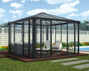 Palram Ledro™ 3600 12 ft. x 12 ft. Enclosed Garden Gazebo - Awnings-Canada