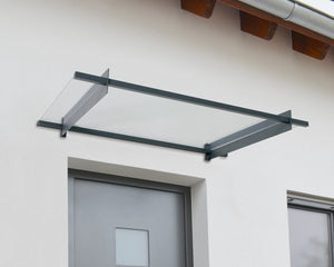 Palram Nancy™ 1500 Door Awning  37x59 Clear Panels