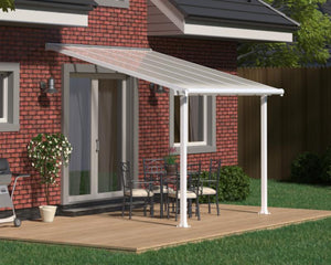 Palram Olympia™ Patio Cover ~10 ft. x 10 ft. White Frame White Panels - Awnings-Canada