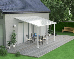 Palram Olympia™ Patio Cover 9.7 ft. x 14 ft. White Frame White Panels - Awnings-Canada