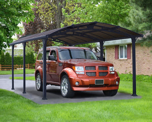 Palram Arcadia™ 5000 Carport Grey Frame Bronze Panels 11.9 ft. x 16.5 ft. - Awnings-Canada