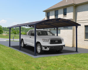 Palram Arcadia™ 6400 Carport Grey Frame Bronze Panels 11.9 ft. x 21.2 ft. - Awnings-Canada