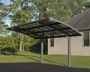 Palram Arizona™ Breeze 5000 Carport Grey Frame Clear Panels - Awnings-Canada