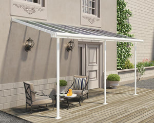 Palram Sierra™ Patio Cover 7.5 ft. x 15 ft. White Frame Clear Panels - Awnings-Canada