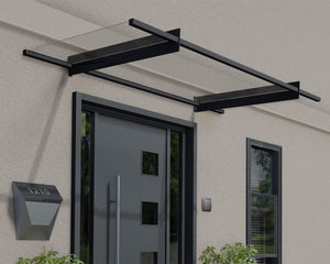 "Palram Nancy™ 2050 Door Awning  37"" x 81"" Clear Panels - Awnings-Canada"