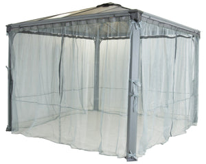 Palram Mosquito Netting set for 10X10 and 12x12 Palermo Garden Gazebo - Awnings Canada