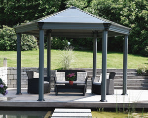 Palram Roma™ 14 ft. x 12 ft. Hexagonal Garden Gazebo - Awnings-Canada