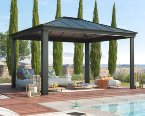 Palram Dallas™ 12 ft. x 14 ft. Garden Gazebo - Awnings-Canada