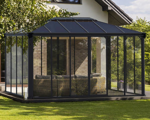 Palram Ledro™ 4300 14 ft. x 10 ft. Enclosed Garden Gazebo - Awnings-Canada