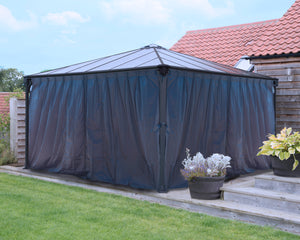 Palram Palermo™ Gazebo Curtain set - Awnings-Canada