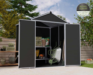 Palram Rubicon™ ~6 ft. x 10 ft. Grey Storage Shed - Awnings-Canada