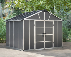 Palram Yukon™ 11 ft. × 9 ft. Skylight™ Storage Shed in Grey - Awnings-Canada