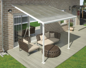 Palram Feria™ Patio Cover ~10 ft. x 10 ft. White Frame Clear Panels - Awnings-Canada