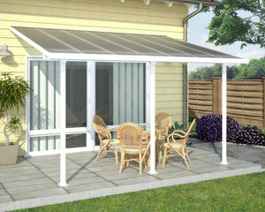 Palram Feria™ Patio Cover 9.7 ft. x 14 ft. White Frame Clear Panels - Awnings-Canada