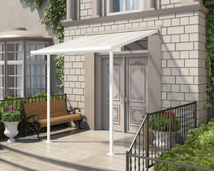 Palram Sierra™ Patio Cover 7.5 ft. x 7.5 ft. White Frame Clear Panels - Awnings-Canada