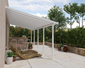 Palram Olympia™ Patio Cover ~10 ft. x 30 ft. White Frame White Panels - Awnings-Canada