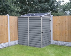 Palram Pent™ 4 ft. x 6 ft. Storage Shed Grey - Awnings-Canada