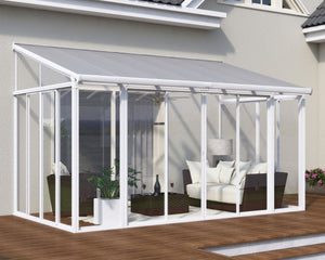 Palram SanRemo™ 10 ft. x 14 ft. Solarium Patio Enclosure White - Awnings-Canada