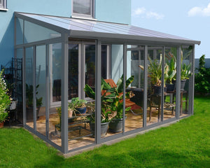 Palram SanRemo™ 10 ft. x 14 ft. Solarium Patio Enclosure Grey - Awnings-Canada
