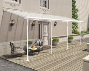 Palram Sierra™ Patio Cover 7.5 ft. x 22.5 ft. White Frame Clear Panels - Awnings-Canada