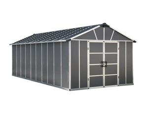Palram Yukon™ 11 ft. × 21 ft. Skylight™ Storage Shed in Grey - Awnings-Canada