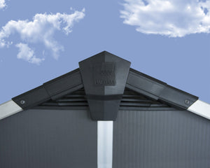 Palram Yukon™ 11×9 Skylight™ Storage Shed in Grey - Awnings Canada