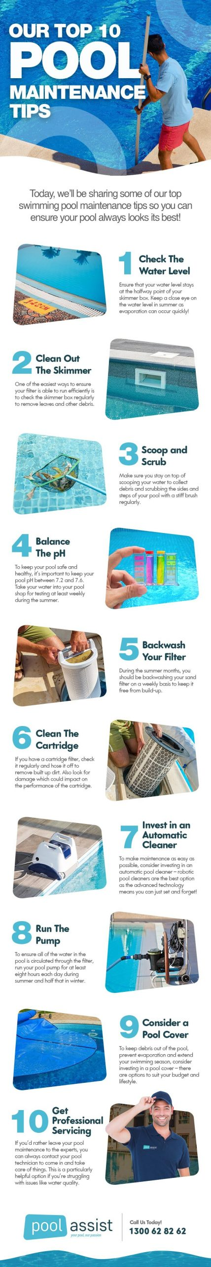 Our Top 10 Pool Maintenance Tips
