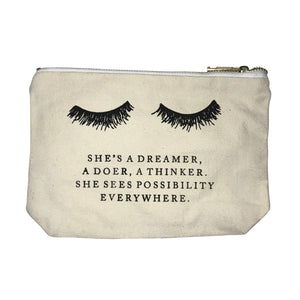 Canvas Makeup Bag - Dreamer - Elite Lash