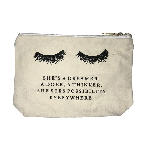 Canvas Makeup Bag - Dreamer