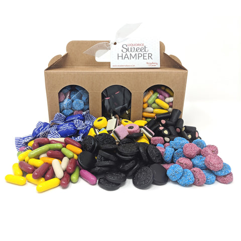 Liquorice Kraft Hamper Box - Strawberry Laces Sweet Shop