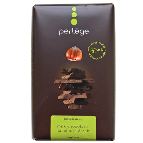 Sugar Free Perlege Milk Chocolate Hazelnut Bar - Strawberry Laces Sweet Shop