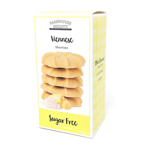 Sugar Free Farmhouse Viennese Shortbread Biscuits - Strawberry Laces Sweet Shop