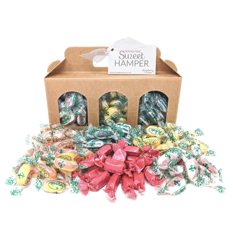 Sugar Free Kraft Hamper Box - Strawberry Laces Sweet Shop