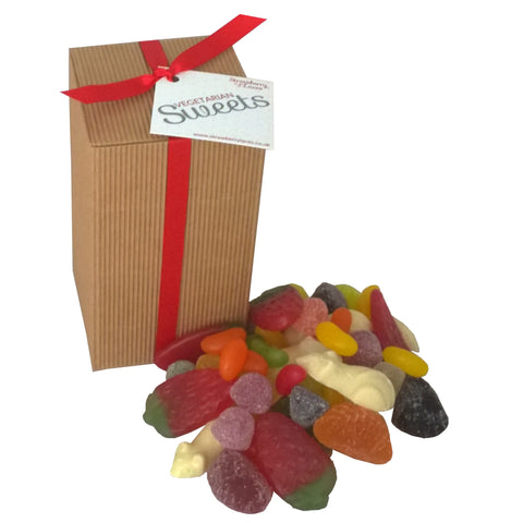 Vegetarian Sweet Gift Box - Strawberry Laces Sweet Shop