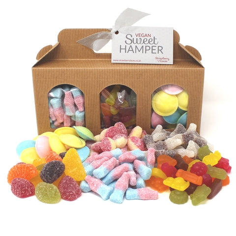 Vegan Sweet Hamper Box - Strawberry Laces Sweet Shop