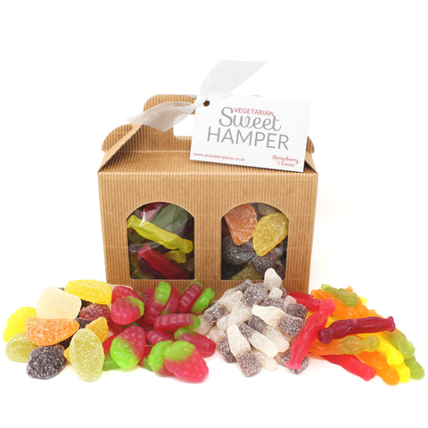 Vegetarian Sweet Hamper Box - Small - Strawberry Laces Sweet Shop