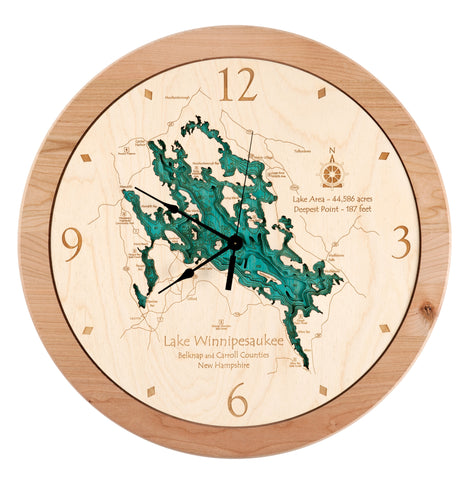3D Laser Carved Depth Clock 17.5 in