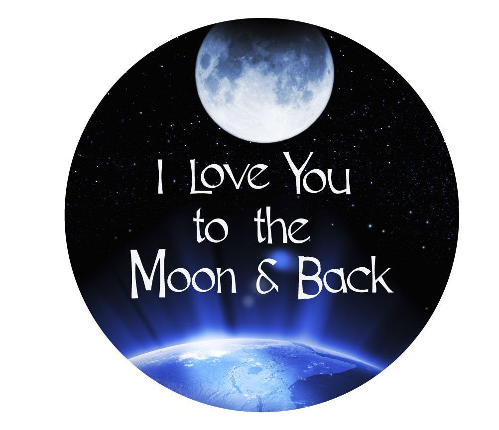 i love you to the moon and back 11 inch round long. Black Bedroom Furniture Sets. Home Design Ideas