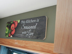 This Kitchen is Seasoned with Love 23x7