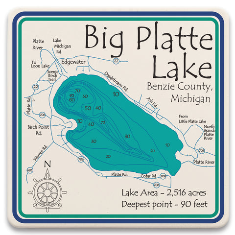 Lake Square Trivet - LA -  7 x 7 in