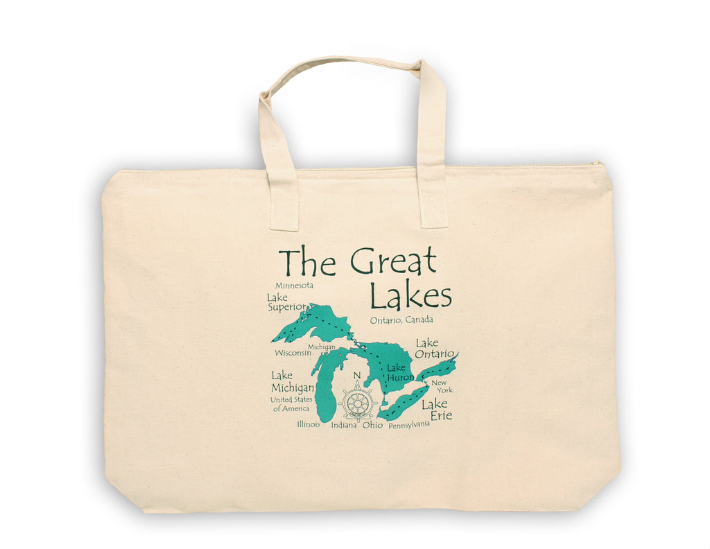 Lake Canvas Tote Bag - LA - 17 x 15 in