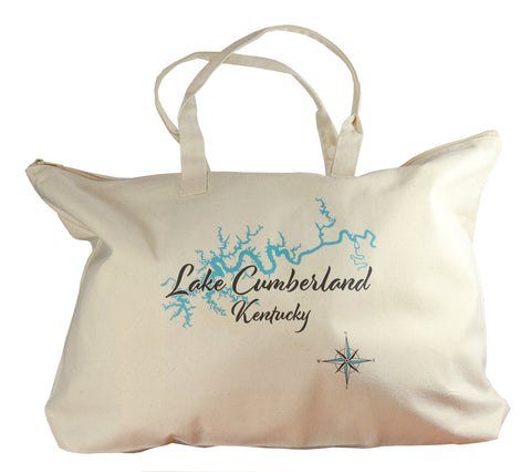 Lake Canvas Tote Bag - LS - 17 x 15 in