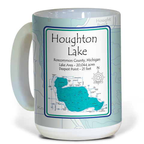 Lake Ceramic Coffee Mugs - LA - 15 oz Set of 4!